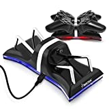 Insten Dual Charging Back Stand Docking Station with LED light Indicator Compatible with Sony PlayStation PS3 / PS 3 Slim Controller[USB Cable Is Included] , Black