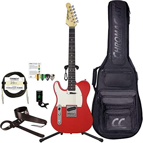 Sawtooth 6 String Solid-Body Electric Guitar Left (ST-ET60-LH-HAB-KIT-1 (Arsenal Guitar Picks)