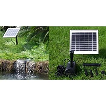 Amazon Com 5 Watt Solar Powered Water Fountain Pump