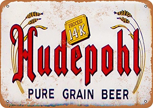 Wall-Color 9 x 12 METAL SIGN - Hudepohl Beer - Vintage Look Reproduction (Beer Hudepohl)