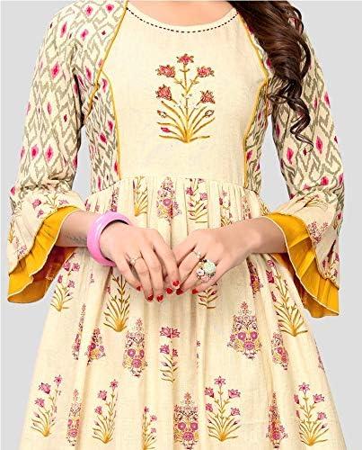 ziya Women Dress Kurti Bollywood Designer Printed Anarkali Suit Kurta Ready to Wear 524