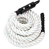 1.5-inch White Poly Dac Gym Climbing Rope by Crown Sporting Goods (25')