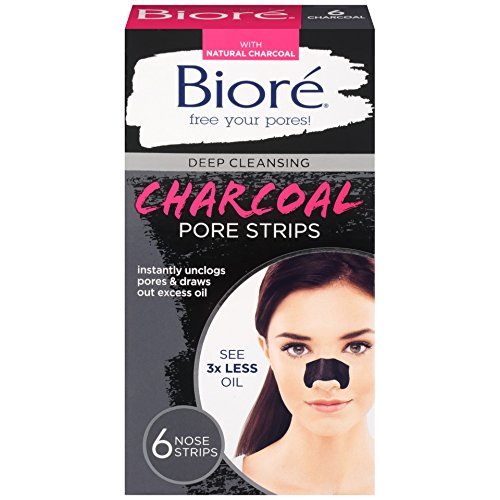 Biore Deep Cleansing Charcoal Pore Strips, 6 Count - Import It All