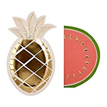 Meri Meri Furit Party Pack: Pineapple Plates (S/8) & Watermelon Napkins (S/16)