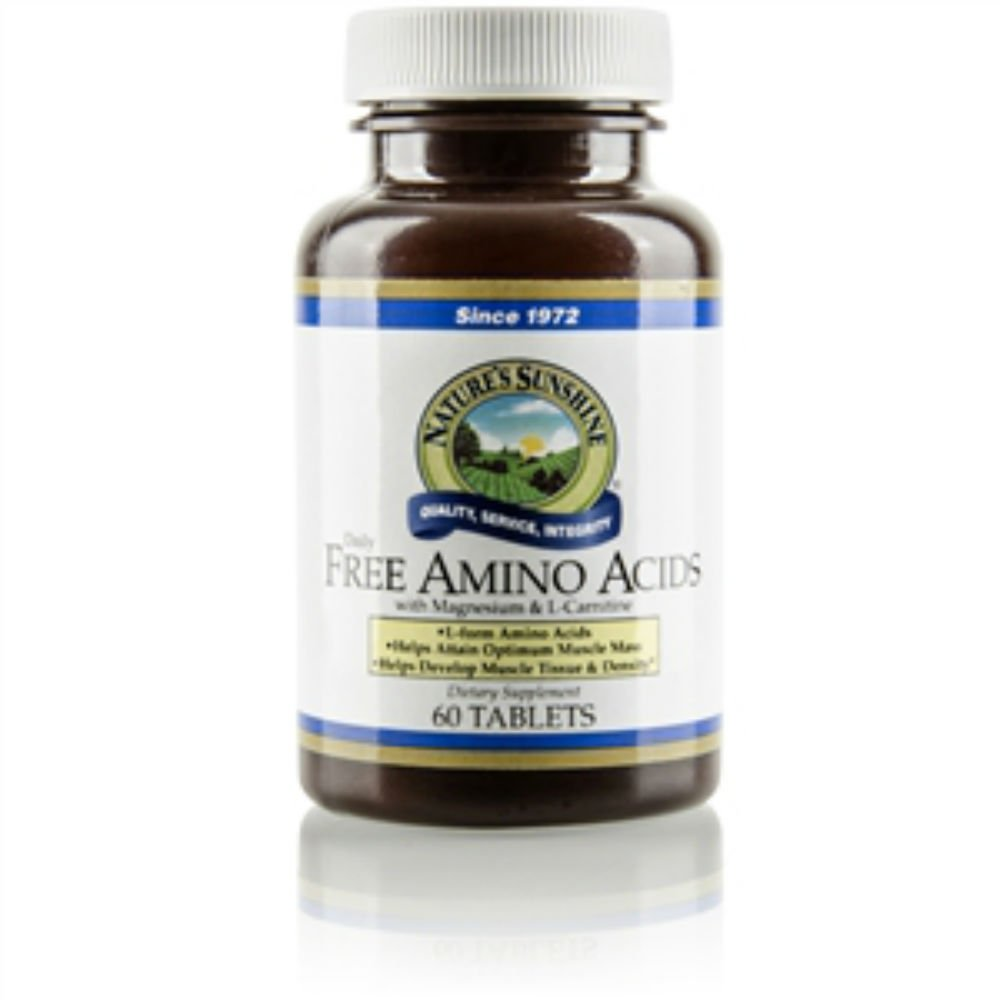 Naturessunshine Free Amino Acids with Magnesium & l-Carnitine Structural System Support 60 Tablets (Pack of 2)