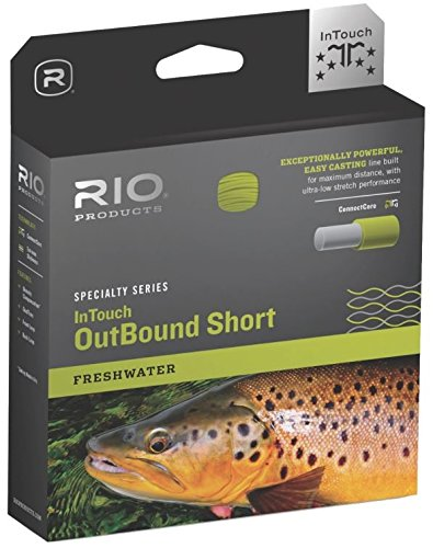 RIO InTouch FW Outbound Fishing Line - Moss/Ivory Short WF7F
