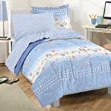 Dream Factory Beach Stripe Comforter, Sham and Sheet Set  Size: Twin  Color: Blue