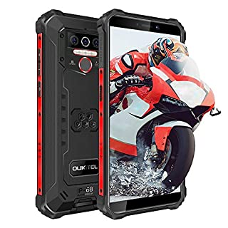 OUKITEL WP5 Pro Rugged Phones - Unlocked Smartphones, 8000mAh Helio A25,IP68 Waterproof Cell Phones 5.5 inch Android 10.0 4+64 ROM 5MP+13MP US Version, NFC(Black)