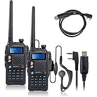 2 Set of BAOFENG UV-5X UHF+VHF Dual Band/Dual Watch Two-Way Radio + USB Program Cable