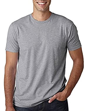 mens Next Level Premium Fitted Short-Sleeve Crew (3600) HEATHER GRAY