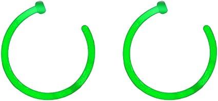 Amazon Com Bodyjewelryonline Glow Nose Hoops Pair Of Glow