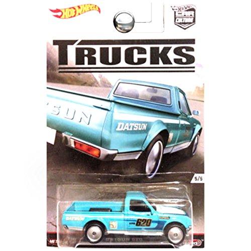 Hot Wheels Car Culture Trucks Datsun 620 Pickup 5/5, Teal