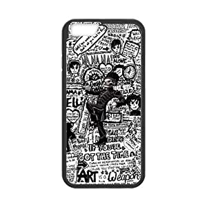 Fashion MCR My Chemical Romance Hard Snap On Rubber Coated Cover Case for iPhone 6 (4.7 inch)