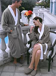 Luxury Spa Robe - Microfiber with Cotton Terry Lining, Sandstone, XXX-Large