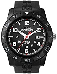 Men's T49831 Expedition Rugged Analog Black Resin Strap Watch