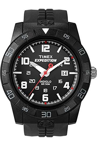 Timex Men's T49831 Expedition Rugged Analog Black Resin Strap (Resin Expedition Watch)