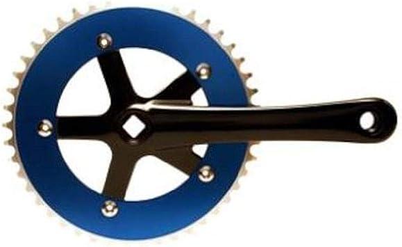Blue and Black Big Roc 57CC8106ABEBK Cotterless Crank Sets 46T x 170mm x 130mm