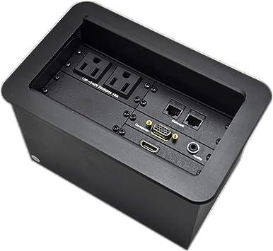 Caja de conectividad multimedia de sobremesa con alimentación, VGA ...