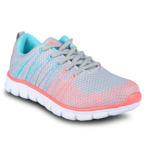 HIND+Womens+ROOK+Athletic+Knit+Mesh+Running+Sneaker+-+ROOK260+GREY%2C+Size+11