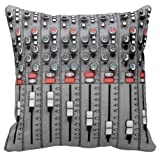 hello halo Personalized Studio Mixer Sound Board Stylish Design Luxury Printed on Square Zippered Throw Pillowcase