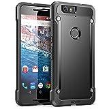 Nexus 6P Case, SUPCASE Google Nexus 6P Case Cover (2015 Release) Unicorn Beetle Series Premium **Slim** Hybrid Protective Case / Bumper (Black/Black)