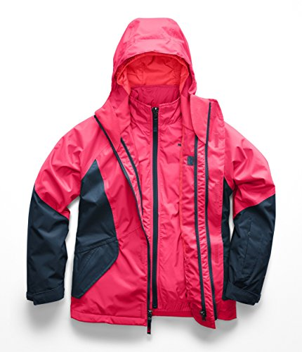 The North Face Kids Girl's Kira Triclimate Jacket (Little Kids/Big Kids) Atomic Pink Large