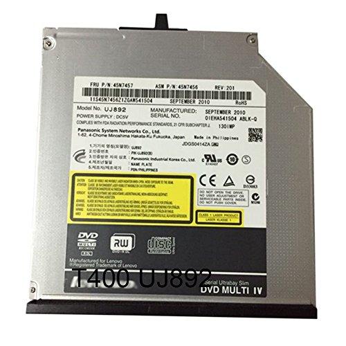 (Slim SATA Internal Optical Drives DVDRW UJ892 For Thinkpad T400 T410i T410S/T420S/T430S 45N7459/45N7457)