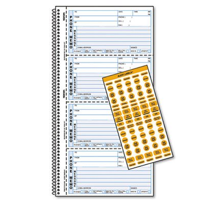 Rediform Professional Line Memo Style Phone Book - 100 Sheet(s) - Wire Bound - 2 Part - Carbonless - 11 by Rediform