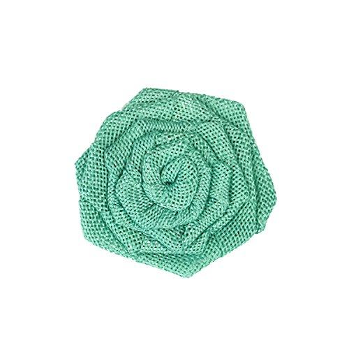 (Wrapables Burlap Rosette Rustic Embellishment 3 Inch Diameter (Set of 12), Mint )
