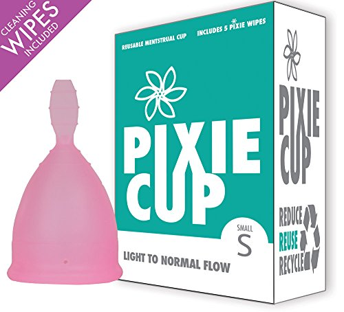 Diva Menstrual Cup (Ranked 1 for Most Comfortable Menstrual Cup and Better Removal Stem Than All Other Brands - Every Cup Purchased One is Given to a Woman in Need! (Small))