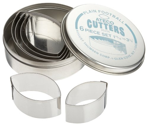 Ateco 6 pc Plain Football Cutter Set