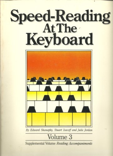 3 Volume Complete Set Speed Reading at the Keyboard