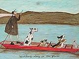 Art Group The Sam Toft Woofing Along On The River Canvas Print, Cotton Multi-Colour, 1.8 x 30 x 40 cm