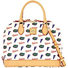 Dooney and Bourke Florida Gators Zip Zip Satchel Handbag - White