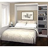 90 in. Modern Wall Bed Kit in White