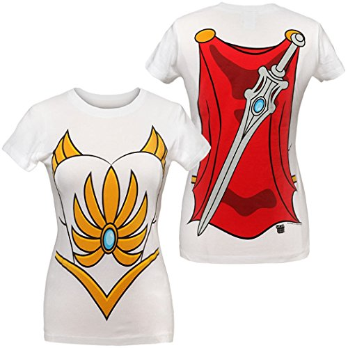 I Am She-Ra Costume Women's Junior T-Shirt-Junior Medium (Womens Shera Costumes Tshirt)