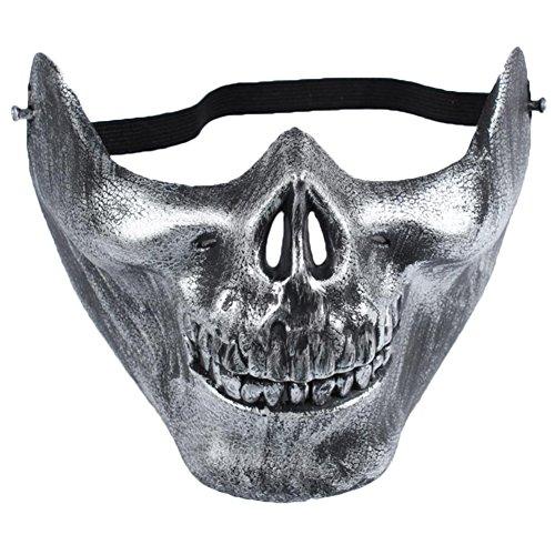 Wansan Skull Mask Half Face Corpse Walking Dead Zombie Skull Mask for Halloween -