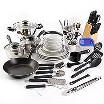 Essential Total Kitchen 83-Piece Combo Set (Black)