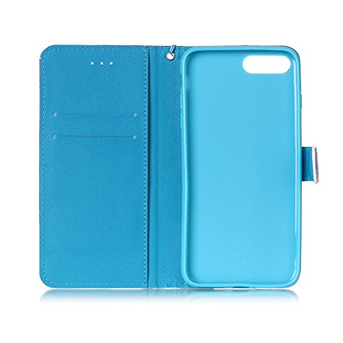 Funda iPhone 7 Plus Cáscara Samsung iPhone 7 Plus, Alfort Casco de Protección PU + TPU Carcasa del teléfono con una función de Soporte y la Cartera La alta calidad de la caja del Cuero Suave ( Torre ) Campanula