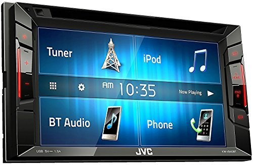 JVC Multimedia Receiver w/WVGA Clear Resistive Touch Monitor, 6.2