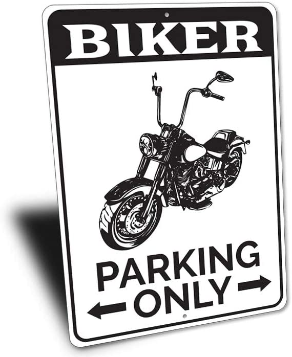 MADE IN USA DIRTBIKE PARKING ONLY  SIGN 8X12 inches ALUMINIUM