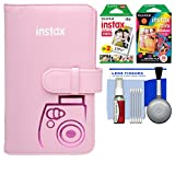 Fujifilm Instax Mini Wallet 108 Photo Album (Pink) with 20 Color Prints & 10 Rainbow Prints + Kit for 7S, 8, 25, 50S, 90 Cameras