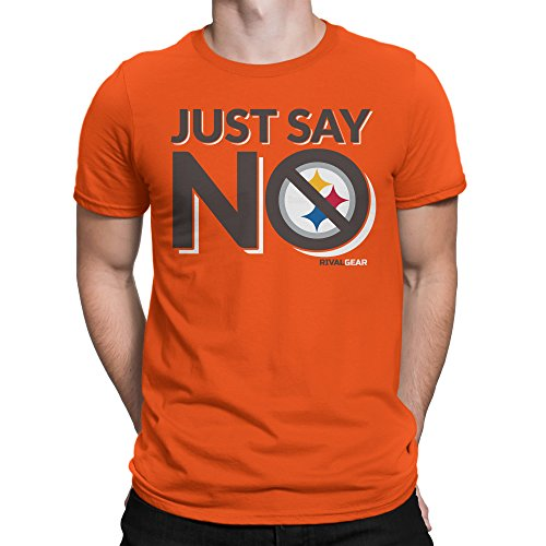 Rival Gear Cleveland Football T-Shirt, Just Say No (2X) (The Best 361 Colleges)