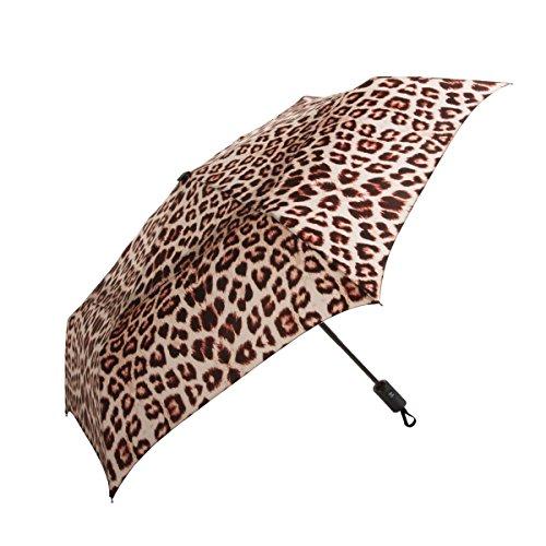 ShedRain WindPro Vented Auto Open/Auto Close Compact Wind Umbrella: Wildcat (Animal Print Umbrella)
