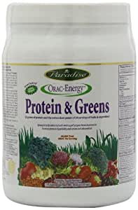 Paradise Herbs Orac Energy Protein Powder, Greens, 454 Gram