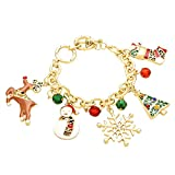 Best Rosemarie Collections Charm Bracelets - Rosemarie Collections Christmas Dangle Charm Bead Bracelet Review