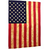 """Lantern Hill Premium Garden Flag Yard Decoration; 12"""" x 18""""; Double Sided Reads Correctly Both Sides (Patriotic American Flag)"""