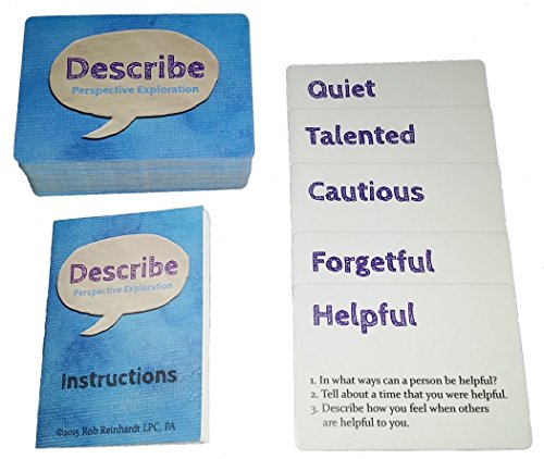Describe Cards - Meaningful Conversation Starter Games and Activities! Over 300 Questions. Over Two Dozen Games & Activities. Loved by Therapists. Enjoyed by Families, Teachers, and More! ()
