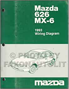 1993 mazda 626 and mx 6 wiring diagram manual original. Black Bedroom Furniture Sets. Home Design Ideas