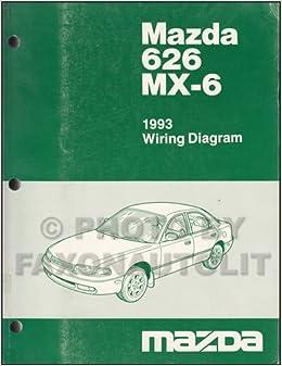 1993 Mazda 626 and MX-6 Wiring Diagram Manual Original ... on vz commodore, vs commodore, ve commodore, vj commodore, vp commodore, vy commodore, vn commodore, vc commodore, vt commodore,